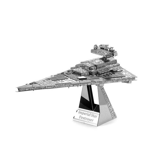 Imperial Star Destroyer Métallique Educative Puzzle de construction DIY Assemblé  Jouet - Argent