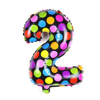 Pantong 16 inch Foil Cute Number Balloon Festival Home Party Decoration - COLORMIX 2