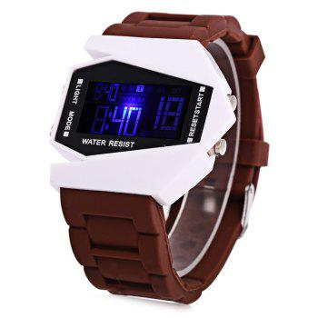 Alarm Day Date Display Stopwatch LED Sports Airplane Shape Dial Watch -  ROSE