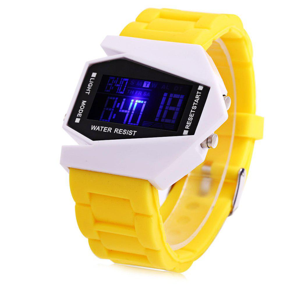 Alarm Day Date Display Stopwatch LED Sports Airplane Shape Dial Watch