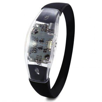 Multi-function Voice Control LED Light Wristband for Night Cycling - BLUE