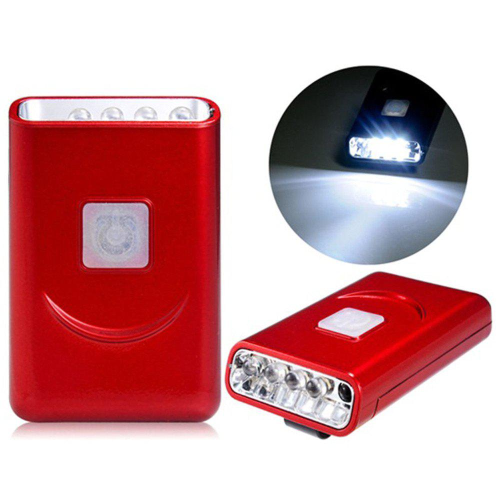 G017 USB Rechargeable Hat Clip Light with 40 Lumens 5 LED for Outdoor CampingHome<br><br><br>Color: RED