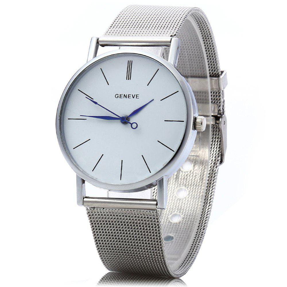 Quartz Watch for Women Stainless Steel Band Analog Wristwatch for Girls - SILVER