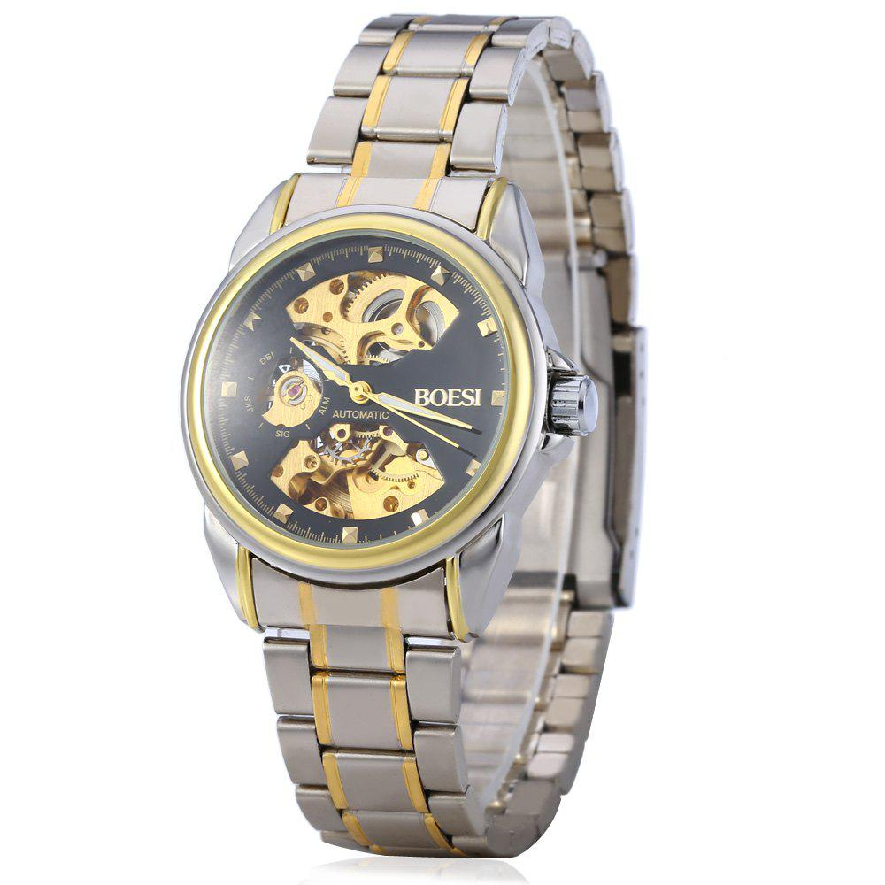 BOSCK 668 Double-sided Hollow-out Automatic Mechanical Men Watch -