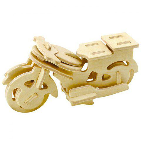 Robotime 3D Wooden Puzzle Motorbike Design Environmental Assemble Toy Educational Game - WOOD