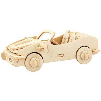 Robotime 3D Wooden Puzzle Cabriolet Design Environmental Assemble Toy Educational Game
