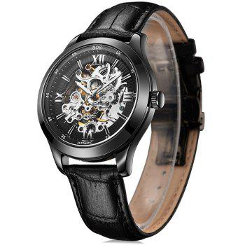 BOS 9008G Hollow-out Dial Automatic Mechanical Movt Watch for Men