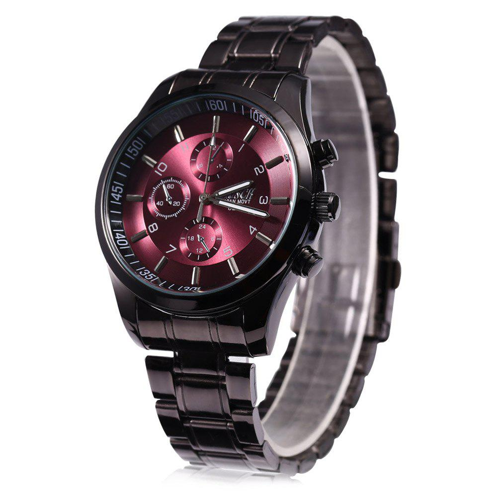 Bosck 8251 Men Causal Business Watch Stainless Steel Band Water Resistant Wristwatch - ROSE