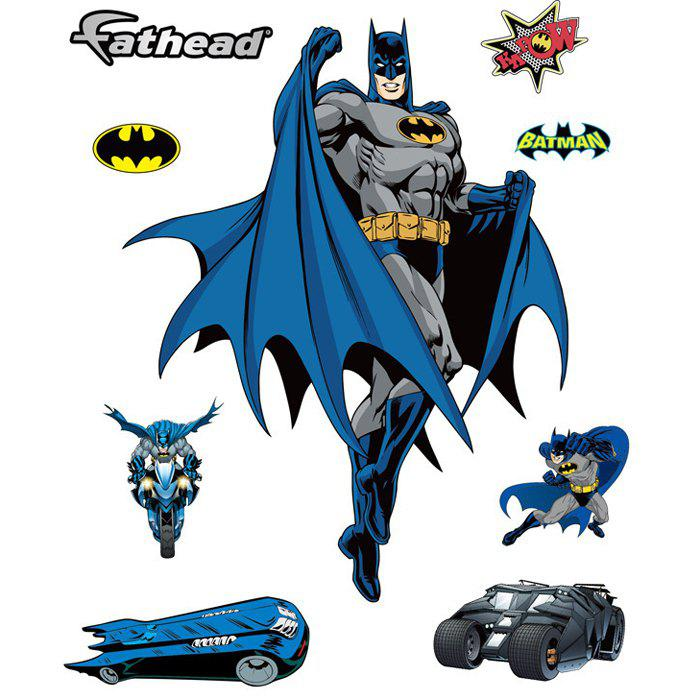 цены  Creative Batman Shaped Wall Sticker Removable Wallpaper Home Art Decals