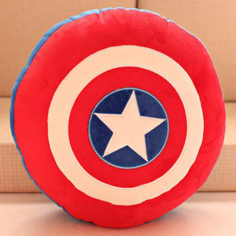 The Avengers Alliance Series Creative Plush Doll Back Cushion Stuffed Chair Sofa Pillow Toy - COLORMIX CAPTAIN AMERICA SHAPE