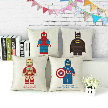 The Avengers Alliance Series Cotton Linen Pillow Comfortable Back Cushion Stuffed Chair Sofa Toy - COLORMIX IRON MAN SHAPE