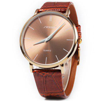 Sinobi 9140 Super Slim Business Male Japan Quartz Watch Leather Wristband Analog Dials