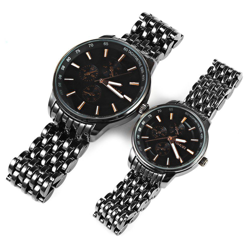 Sinobi 9268 Couple Japan Quartz Watch Stainless Steel Strap 10M Water Resistance