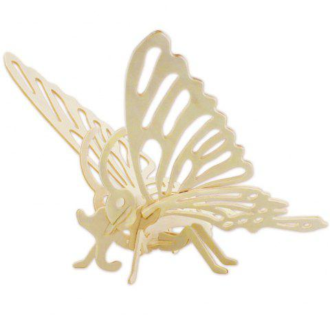 Robotime 3D Wooden Puzzle Insect Series Environmental Assemble Toy Educational Game - WOOD BUTTERFLY