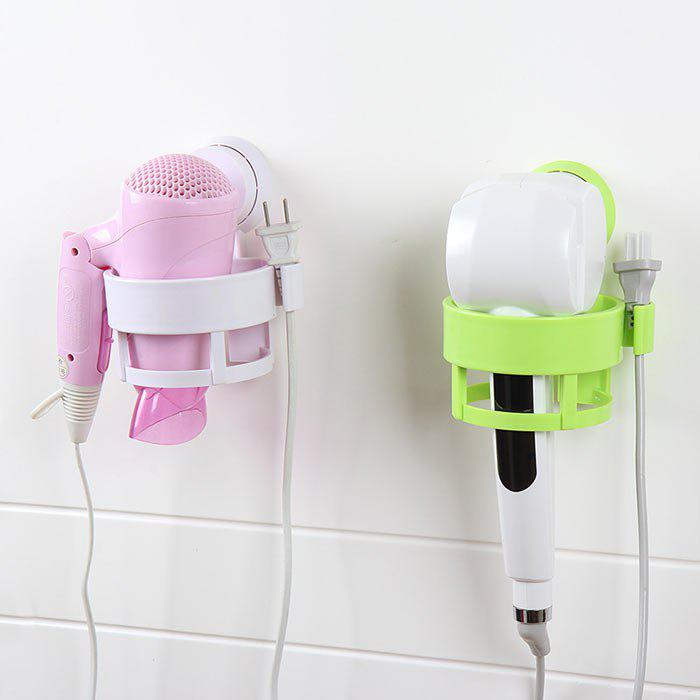 Vacuum Suction Magic ABS Hair Hairdryer Storage Rack - WHITE
