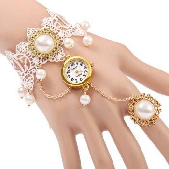 JUBAOLI A1090 Female Quartz Watch with Ring Bracelet