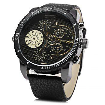 JUBAOLI 1098 Decorative Sub-dial Date Function Water Resistance Male Quartz Watch