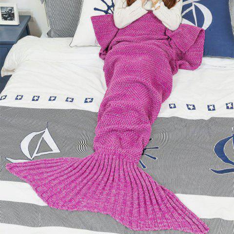 Crocheted / Knitted Mermaid Tail Style Blanket - ROSE MADDER ALL AGES