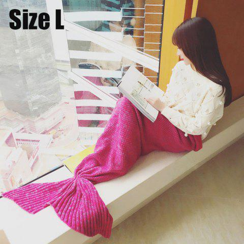 Crocheted / Knitted Mermaid Tail Style Blanket - ROSE ADULT