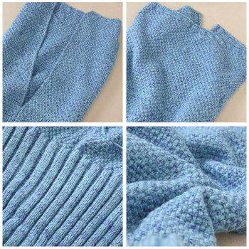 Crocheted / Knited Mermaid Tail Style Blanket -  BLUE ALL AGES