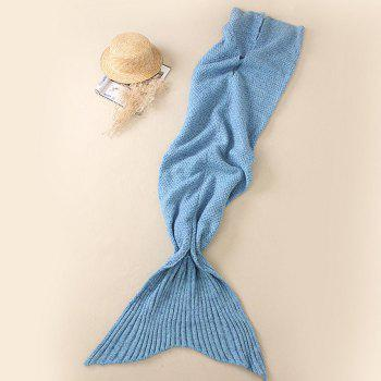 Crocheted / Knited Mermaid Tail Style Blanket - BLUE - ALL AGES BLUE ALL AGES