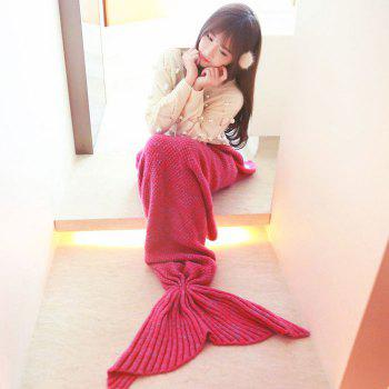 Crocheted / Knited Mermaid Tail Style Blanket -  ROSE ADULT