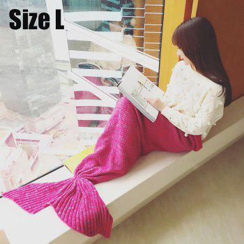 Crocheted / Knited Mermaid Tail Style Blanket - ROSE - ADULT ROSE ADULT