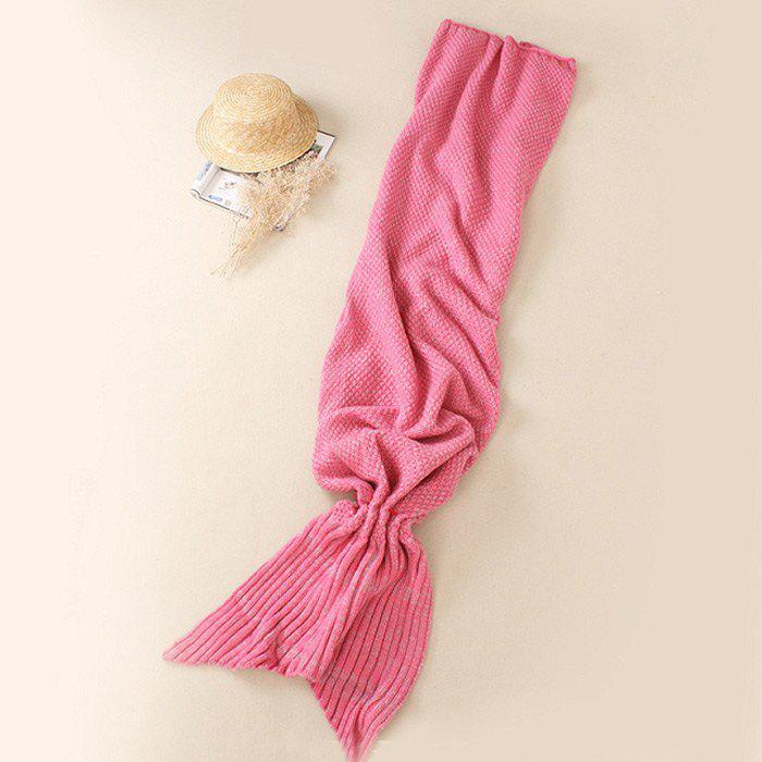 Crocheted / Knited Mermaid Tail Style Blanket - PINK ALL AGES