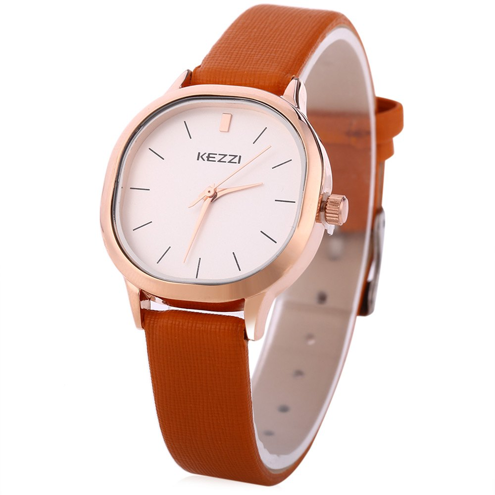 KEZZI K - 1155 L  Women Quartz Watch  Business Wristwatch - LIGHT BROWN