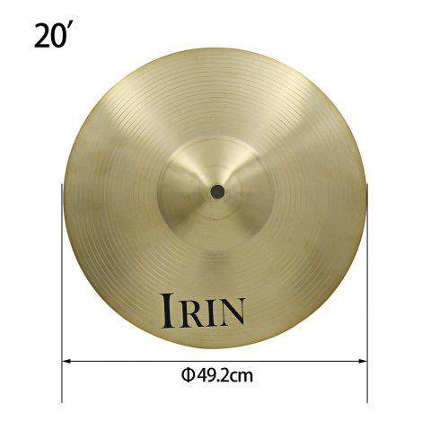 IRIN 20 inch Ride Cymbal Brass Accessory for Drum Set - COPPER COLOR