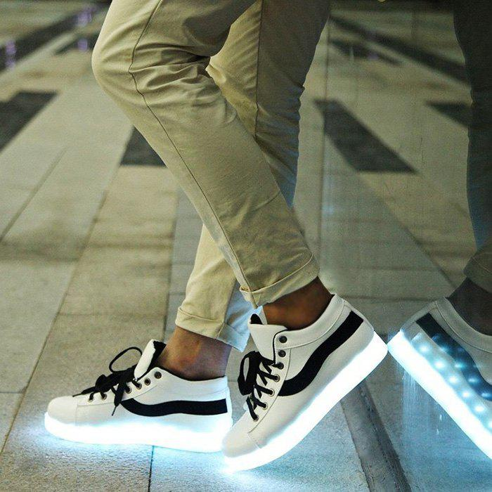 Unisex Charger Coloré Brillant Chaussures LED avec Interface USB Cachée - [