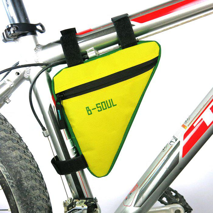 B-SOUL Outdoor Bicycle Triangle Bag Canvas MadeHome<br><br><br>Color: GREEN