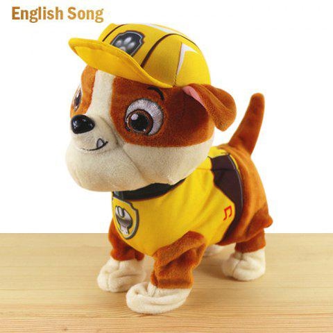 JS 24cm Height Plush Doll Battery Operated Toy with Cartoon Theme Song - ENGLISH SONG RUBBLE