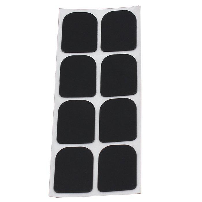 8Pcs Treble Sax Mouthpiece Patch Pad Cushion - Noir 0.8MM THICKNESS