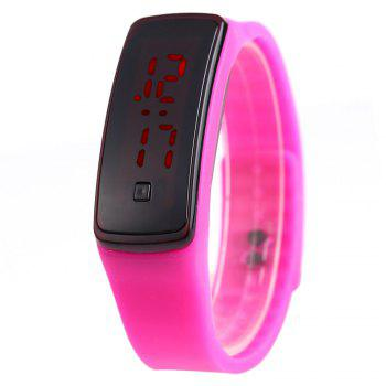 Men Women LED Digital Bracelet Watch Sport Wristwatch - ROSE ROSE