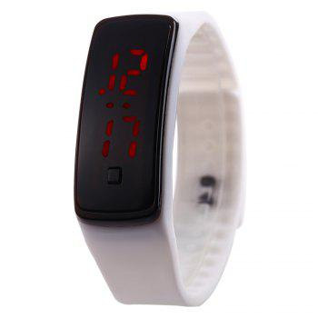 Men Women LED Digital Bracelet Watch Sport Wristwatch - WHITE WHITE