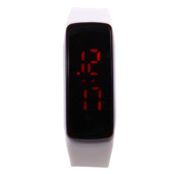 Men Women LED Digital Bracelet Watch Sport Wristwatch -  WHITE