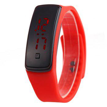 Men Women LED Digital Bracelet Watch Sport Wristwatch - RED RED