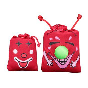 1PC Laughing Bag Funny Toy with Sound Silk Cover - COLORMIX SIZE L
