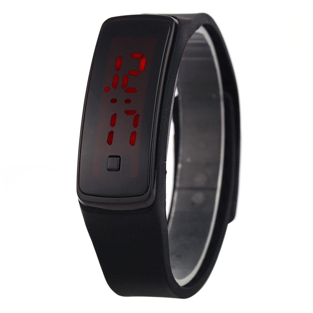 Men Women LED Digital Bracelet Watch Sport Wristwatch - BLACK