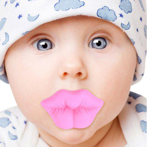 Silicone Pink Lip Shape Baby Pacifier Infant Sucker - PINK