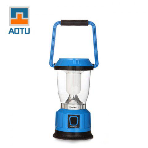 AOTU LSC-9028 250LM 3W 6 LED 3 Mode Solar Power USB Rechargeable Camping Lantern - BLUE