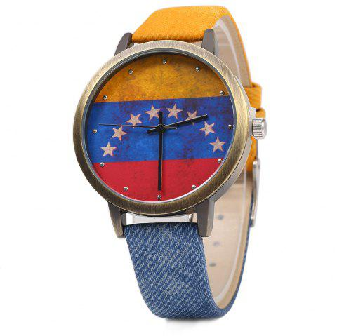 KEZZI K - 1048 Women Quartz Watch Retro Copper Dial Wristwatch - BLUE/YELLOW