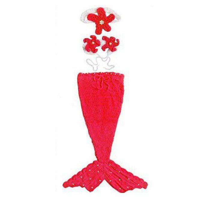 Mermaid Tail Style Blanket Design for Baby - RED