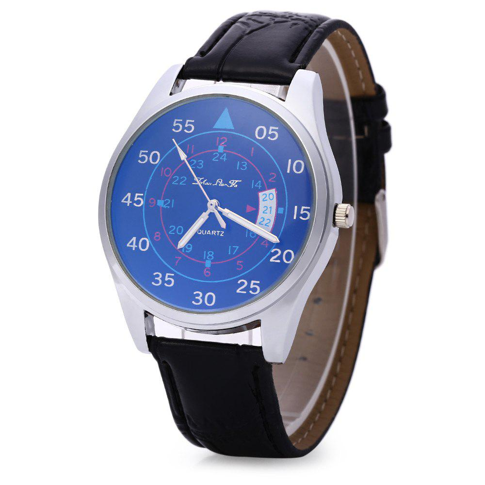 Male Quartz Watch Fashionable Sapphire Glass Water Resistance Wristwatch - BLACK