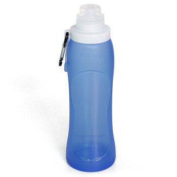 Myfriday S3 500ml Silicone Folding Water Bottle for Outdoor Camping Hiking