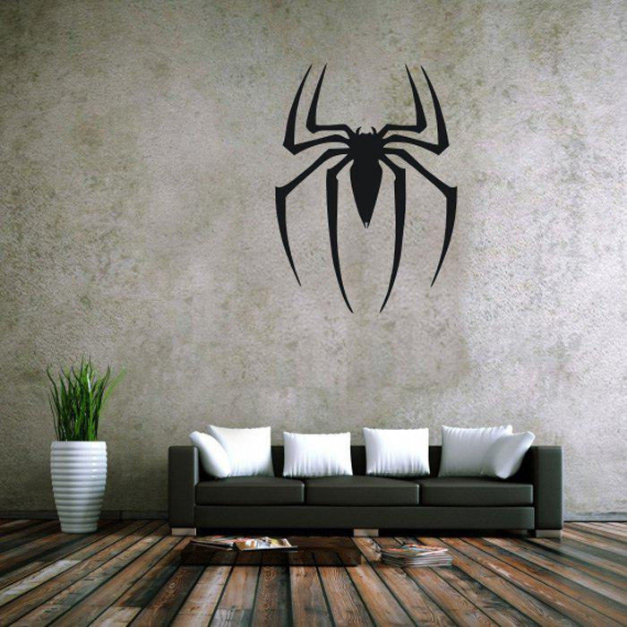 Spider Style Removable Wall Stickers Pure Color Room Window Decoration for Bedroom Store 3d horse rushing window living room decoration wall stickers