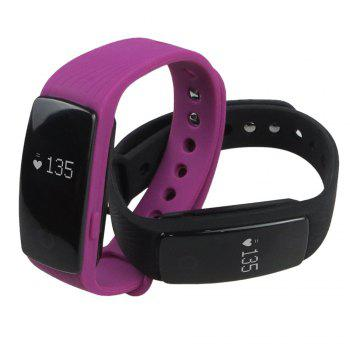 ID107 Smart Watch with Heart Rate Monitor Pedometer Remote Camera Function - BLUE