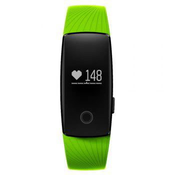 ID107 Smart Watch with Heart Rate Monitor Pedometer Remote Camera Function -  GREEN