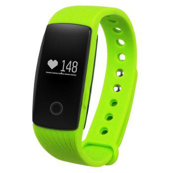 ID107 Smart Watch with Heart Rate Monitor Pedometer Remote Camera Function - GREEN GREEN